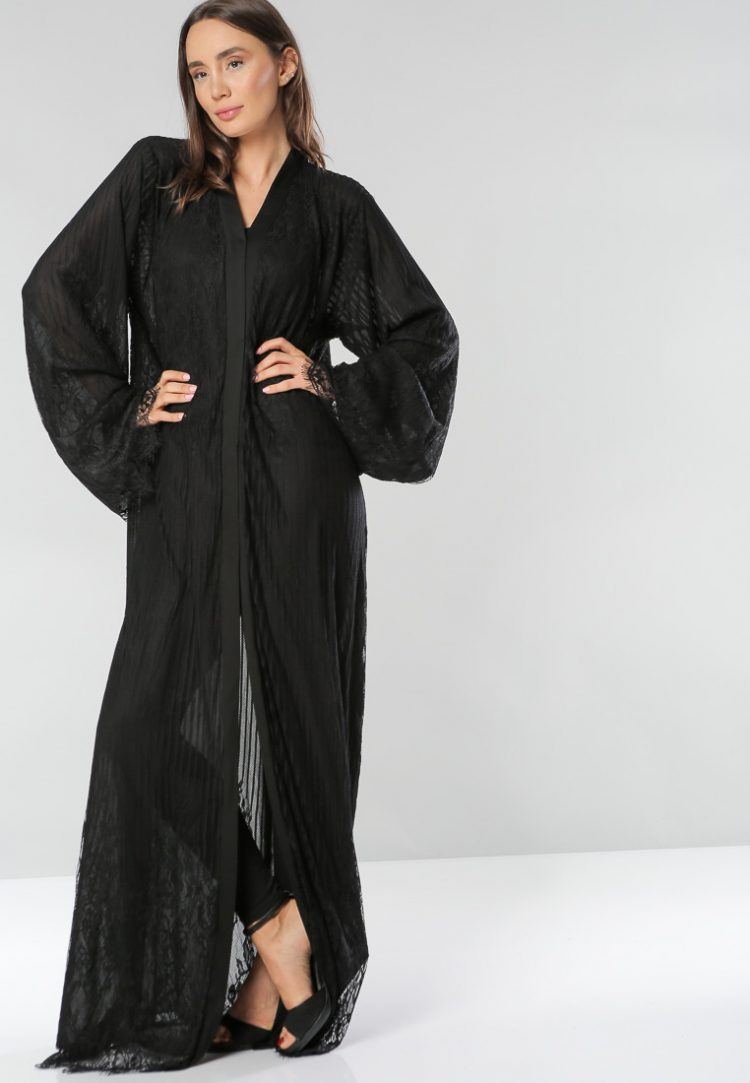 Wide Sleeves Abaya-Hela Couture