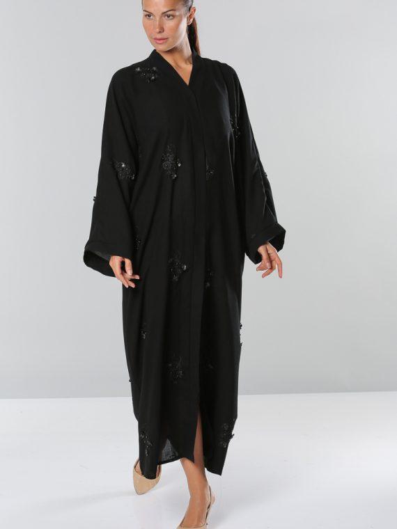 Wide Sleeves Abaya-Roza