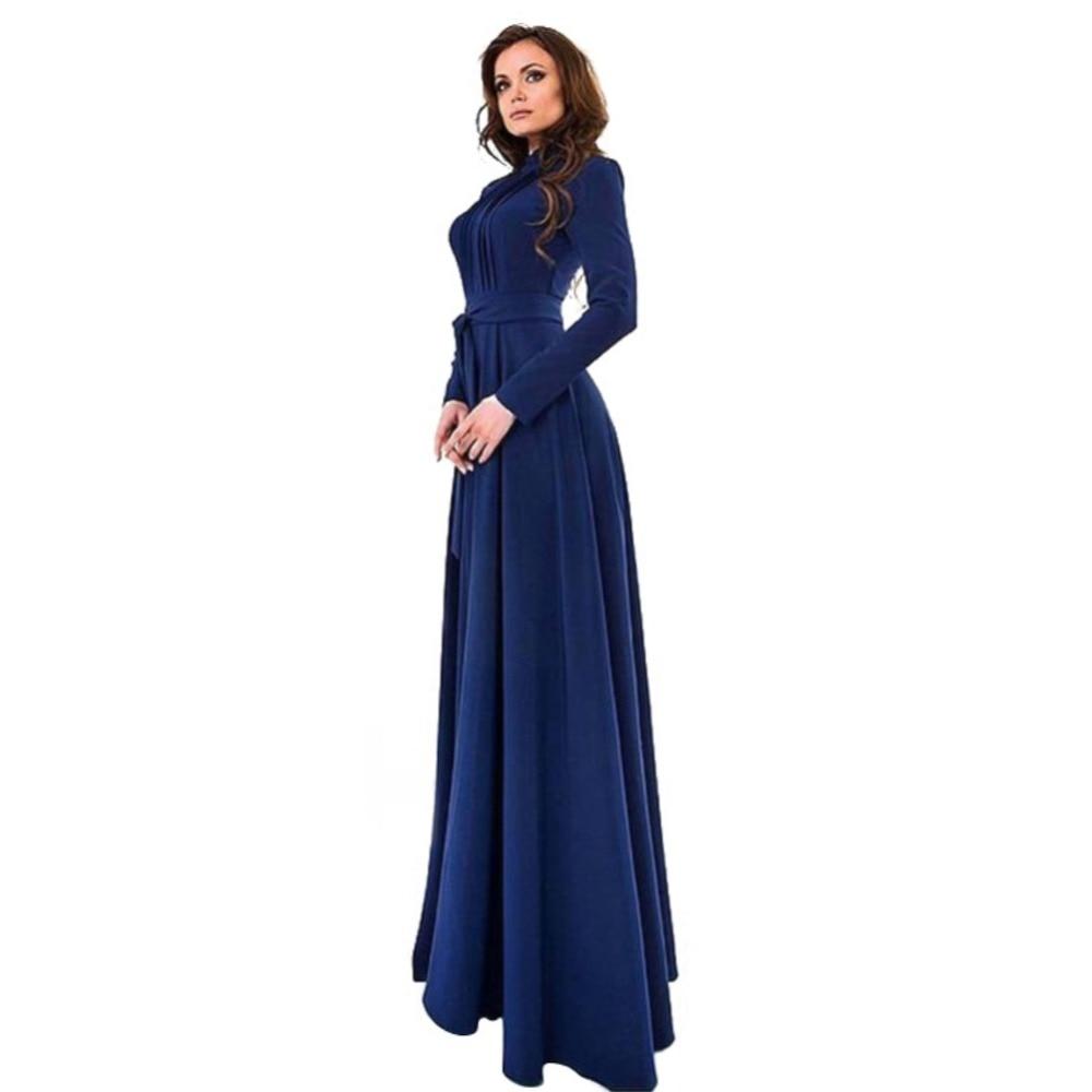 abaya  Elegant Women's Kaftan Jilbab Islamic Muslim Abaya Boho Evening Party Long Sleeve Vintage Ball Gown Long Sleeve Long Maxi Dress