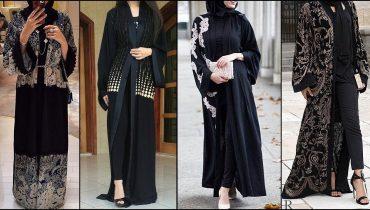 Dubai Open Abaya Stylish Trend (Open Style Burqa) Designs – 2018