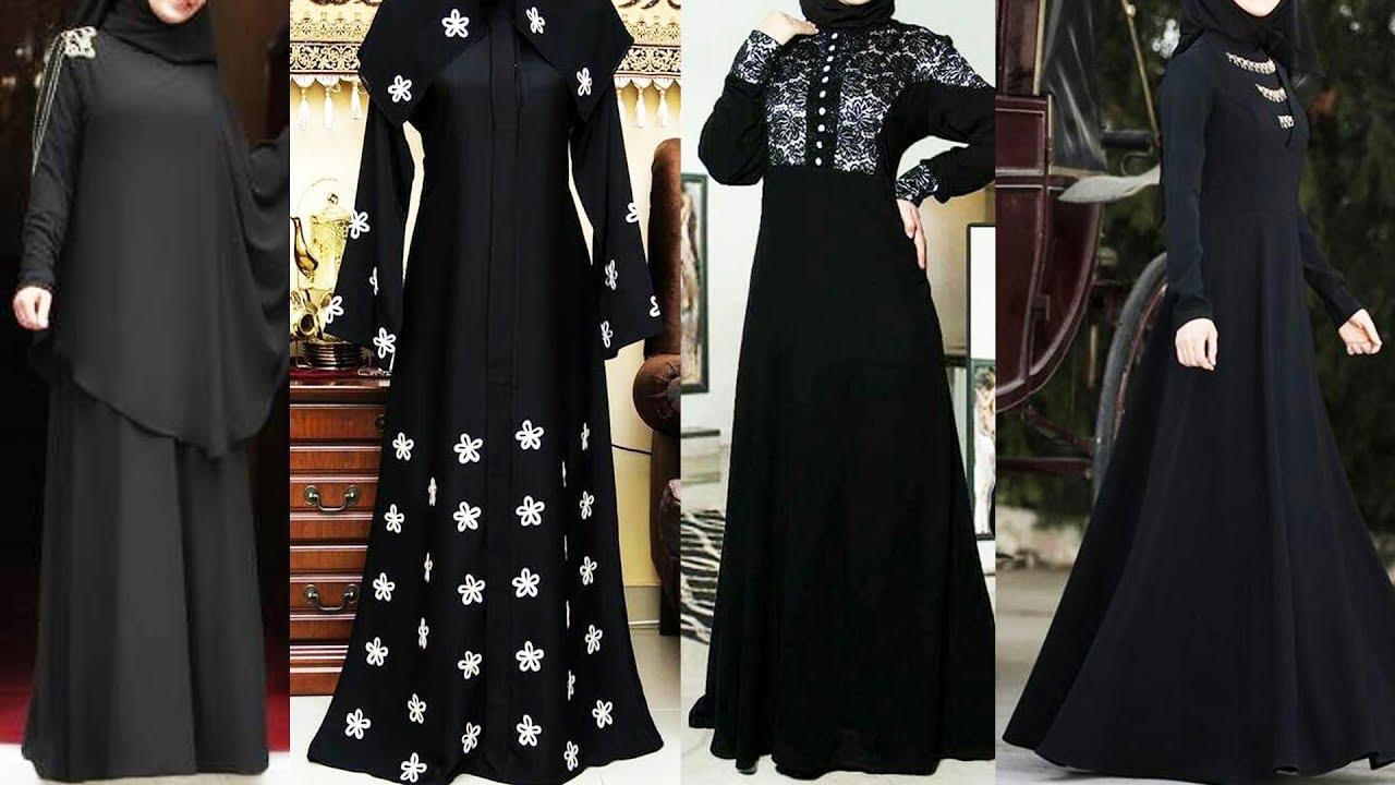 Jet Black Abaya Designs 2018-2019 – New Collection Abaya Black Color designs – Black abaya designs –