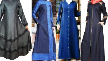 Denim abaya UK | UK winter denim abaya designs | Abaya winter denim collection |