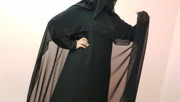 Abaya Designs #31 – Blacks Beauty Pearl Abaya   Small Pearls Crystal Abayas   Black Beauty Abaya