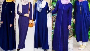 Blue abaya | Blue abaya designs | Navy blue abayas | Best navey blue abaya designs | Abayas |