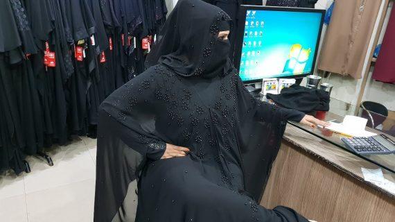 Abaya Designs #98 – Black Beauty Abaya Design 2018 | Dubai Abaya | Saudi Abaya | Jet Black Abaya