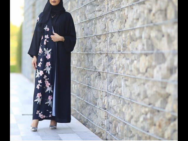 تصاميم عبايات راقية – احدث موديلات عبايات فخمة Modern abaya dress 2017