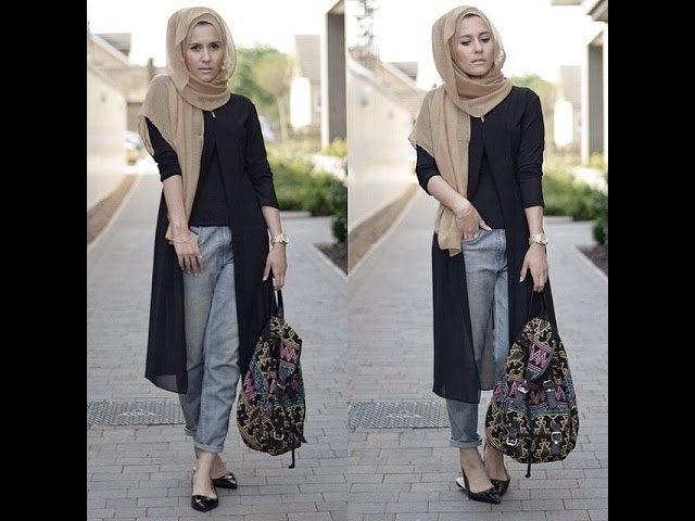 10 Ways to Style Jeans with Abaya Modestly