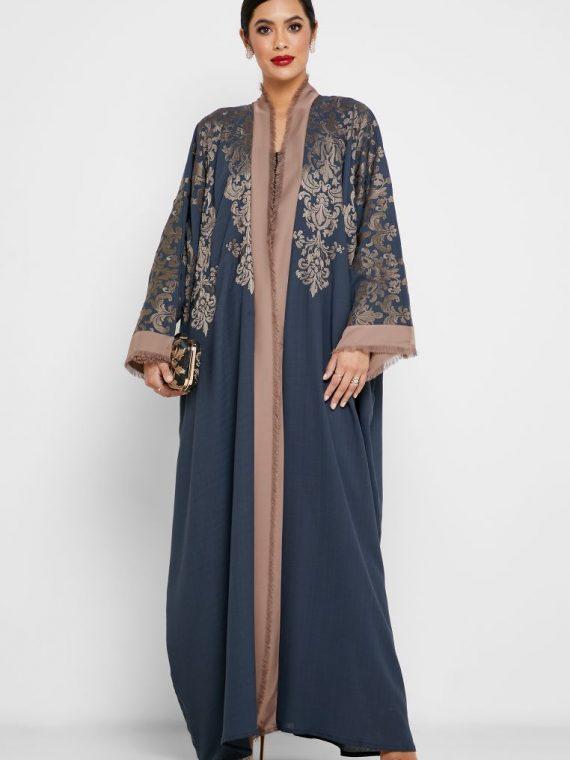 Colorblock Embroidered Abaya - Haya's Closet