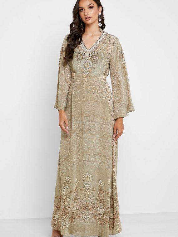 Embellished Kaftan - NIRRAAMYAA