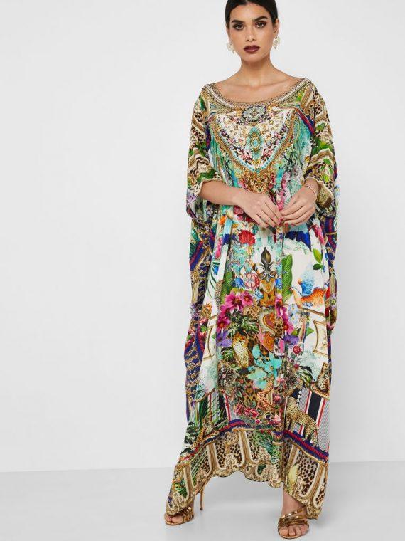 Printed Kaftan Dress - Camilla