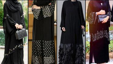 Dubai Style Black Abaya Designs || Jet Black Abaya Hijab fashion || Plain Black Abaya Designs 2019