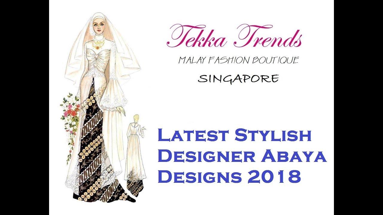 TEKKA TRENDS  STYLISH ABAYA DESIGNS PART 6 (2018)