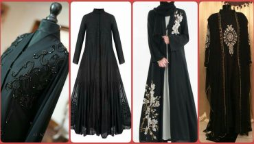 Very Simple & Attractive Arabic & Dubai Black Colour Abaya Designs Collections 2019