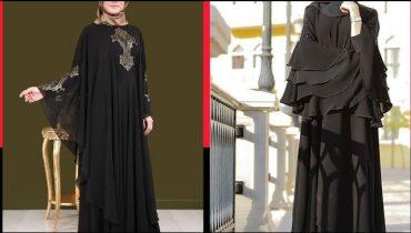 Hijab/abaya designs/jet black latest abaya collection