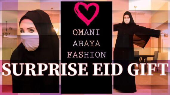 OMAN ABAYA MUSLIM FASHION   NIQAB   REVERT WOMAN IN USA OPENS FIRST EID GIFT
