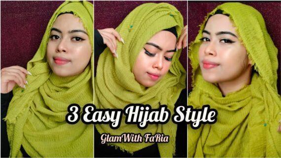 Easy Hijab tutorial     Crinkle hijab style with full body coverage    Islamic Fashion    FaRia