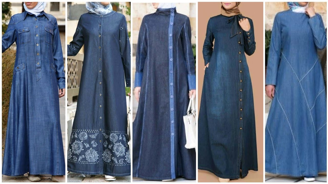 Latest Top 44 Denim Abaya Designs Collection (2020)